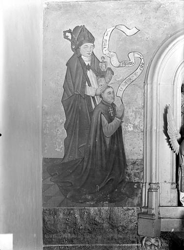Peinture monumentale : saints et donateurs