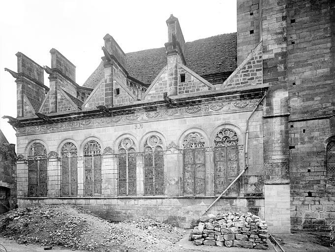 Façade nord : Chapelles