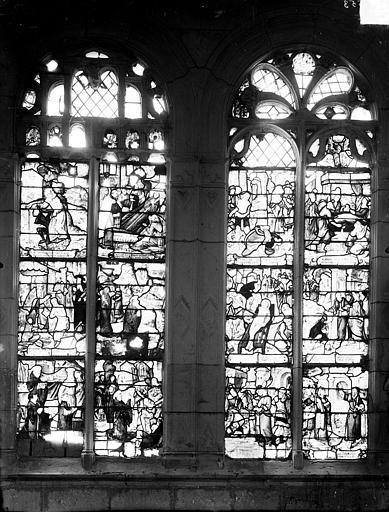 Vitrail du bas-côté nord du choeur : Légende de saint Bond et saint Marcoul