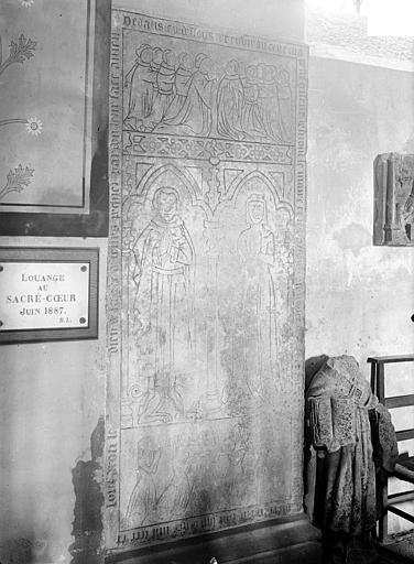 Dalle funéraire à effigie gravée de la famille Le Maire