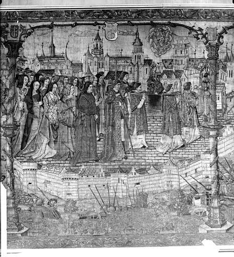 Tapisserie : Dijon assiégée par les Suisses en 1513 (partie centrale)