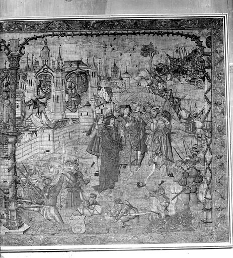 Tapisserie : Dijon assiégée par les Suisses en 1513 (partie droite)