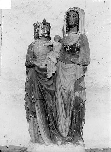 groupe sculpté : Sainte Anne, la Vierge et l'Enfant