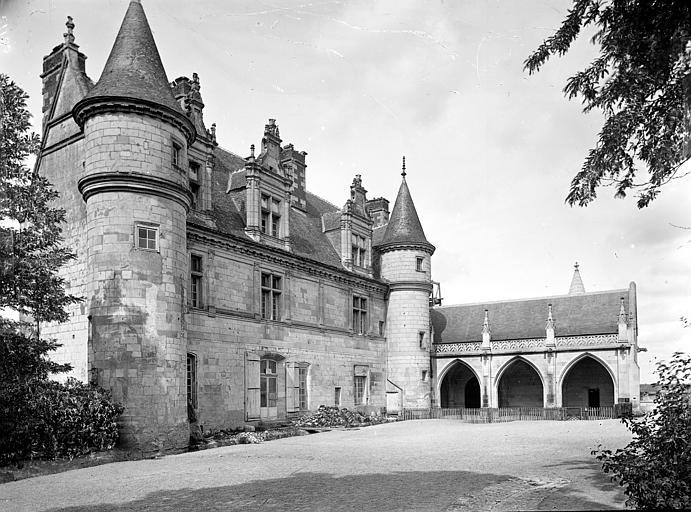 Aile Louis XII et galerie en retour, côté sud-est