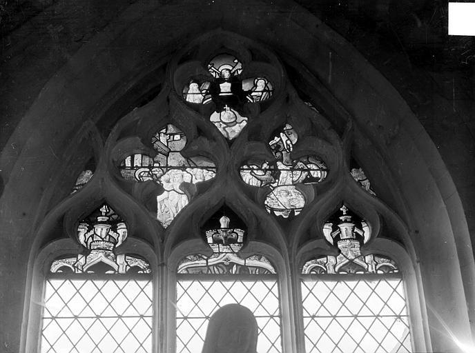 Vitrail du transept nord : Le Jugement dernier