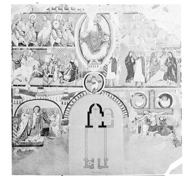 Peinture murale d'après le relevé de Brune