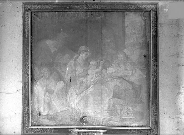 Peinture sur toile : Nativité