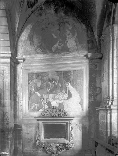 Peintures monumentales de la chapelle de la Vierge, dite de Nérestang : Scènes de la vie du Christ et de la Vierge