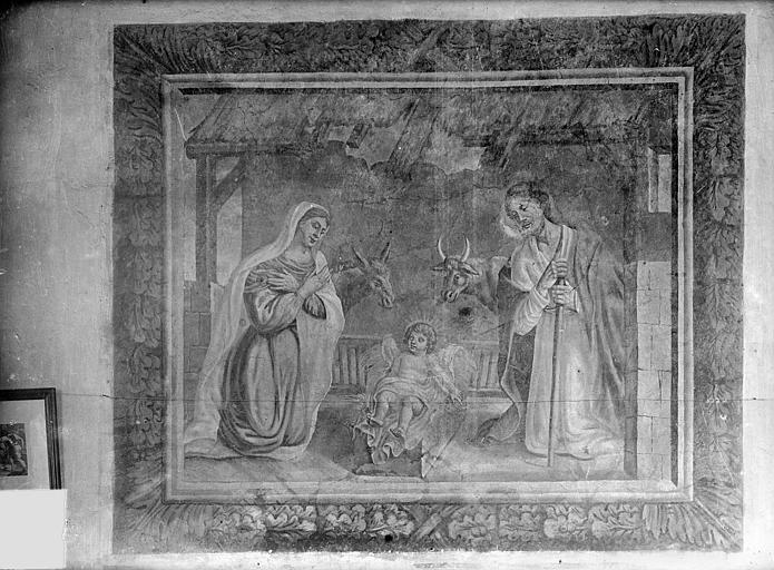 Peinture murale : La Nativité