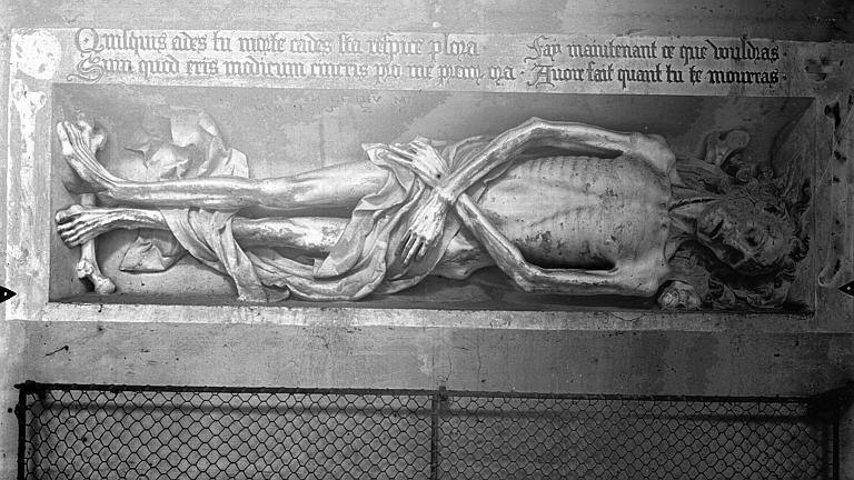 Monument funéraire : transi