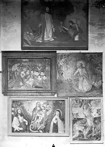 Chapelle des fonts baptismaux, cinq tableaux