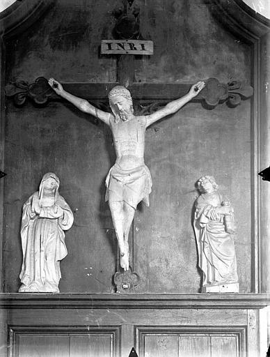 Christ en Croix entre la Vierge et saint Jean