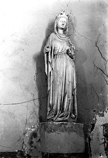 Statue, sainte Catherine
