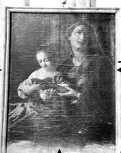 Tableau, sainte Anne et la Vierge