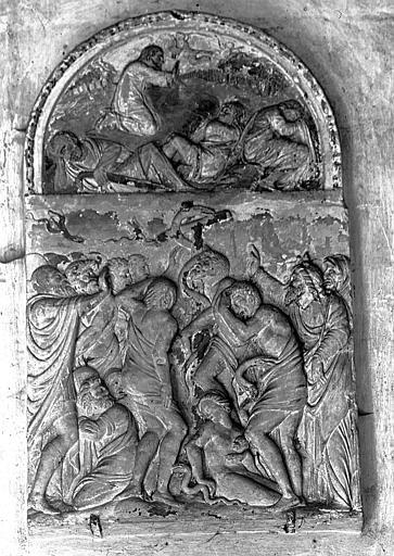 2 bas-reliefs : Les adieux du Christ à sa mère, le Christ au Jardin des Oliviers