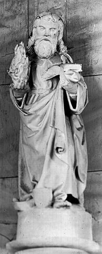 Statue (grandeur nature) : Saint Fiacre