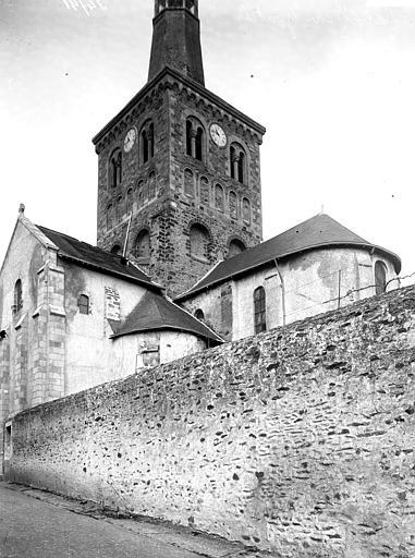 Abside, clocher, bras sud du transept