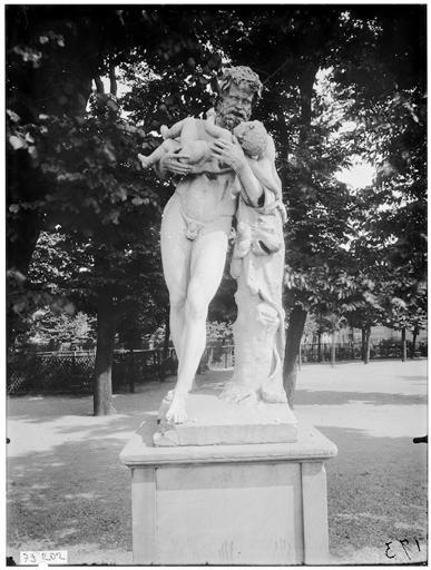 Statue de la Faune à l'enfant, Silène et Bacchus