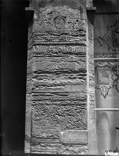 Sculpture du pilastre