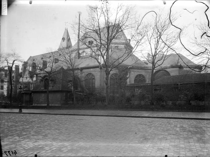 Façade sud, abside