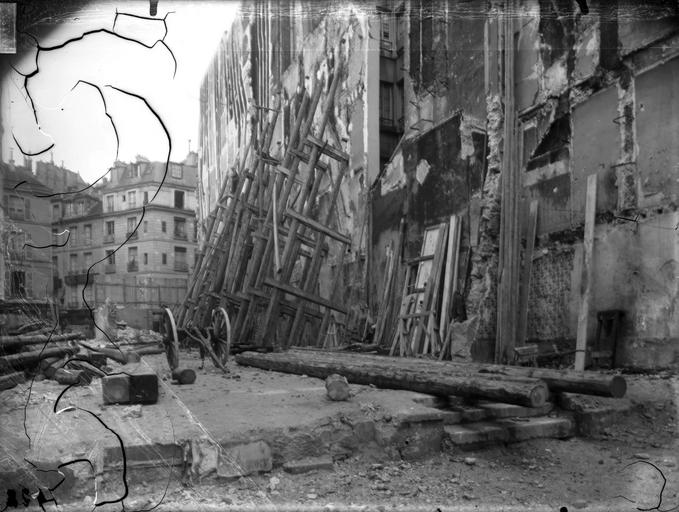 Vue des démolitions