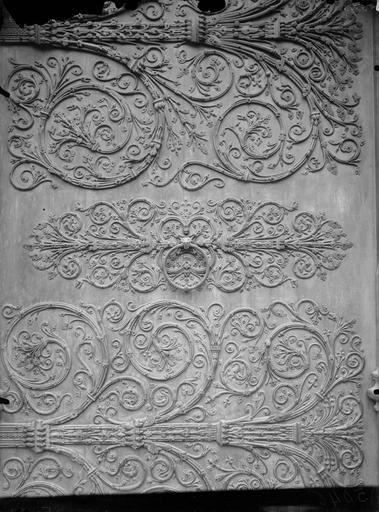 Façade ouest, portail central