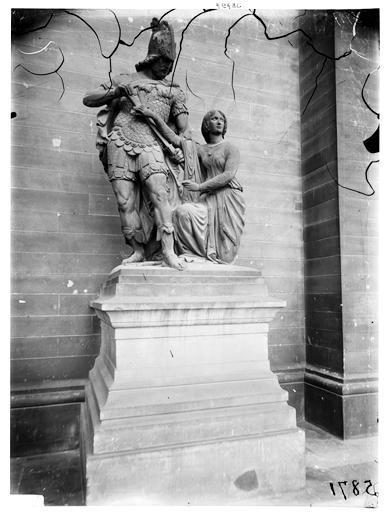 Sainte Geneviève et Attila, groupe sculpté