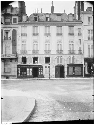 Façade sur rue ; ancienne librairie Honoré Champion