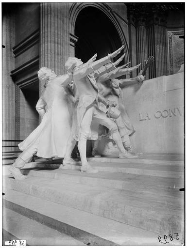 Groupe sculpté : La Convention nationale