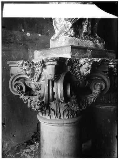 Chapiteau : tête d'ange