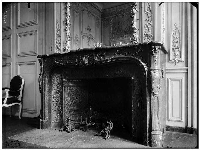 Salon de la duchesse du Maine : Cheminée en marbre