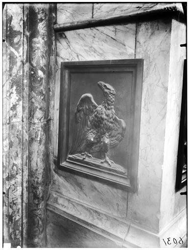 Chaire, bas-relief : L'Aigle de saint Jean l'Evangéliste