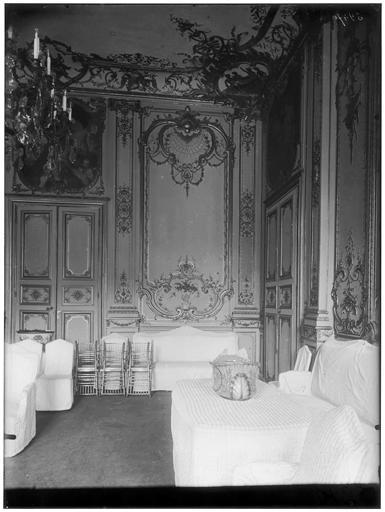 Vue intérieure du Grand salon et des boiseries