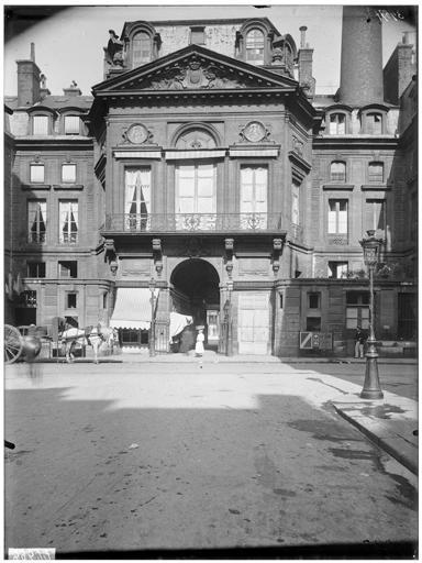 Passage de la cour des fontaines : façade sur rue
