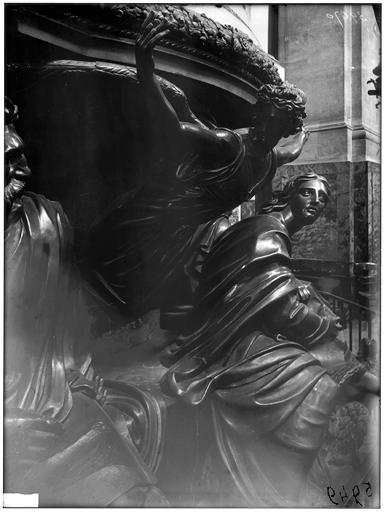 Chaire, détail : sculpture