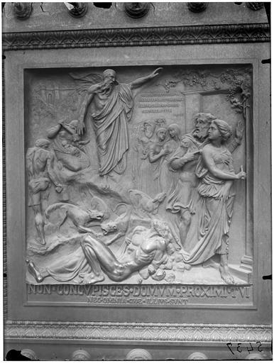 Meurtre de Naboth, vantail du portail en bronze