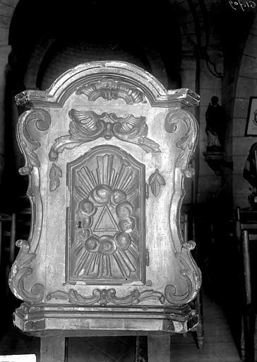 Tabernacle de l'ancien autel, bois