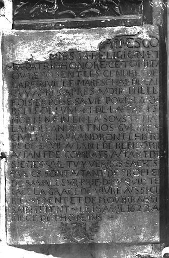 Inscription funéraire, Maréchal de Lareinville