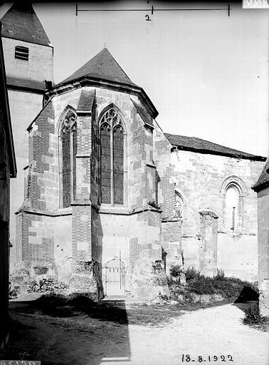Abside et transept, au nord