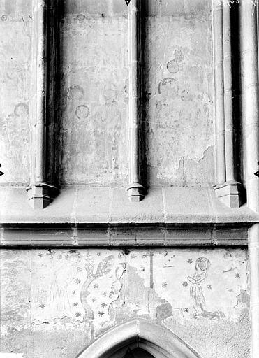Peinture monumentale de la chapelle Sainte-Germaine (ensemble des peintures monumentales médiévales du déambulatoire et des absidioles)