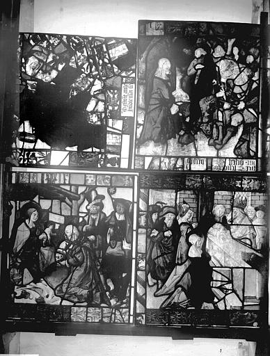 Vitrail, fenêtre E, panneau, après restauration