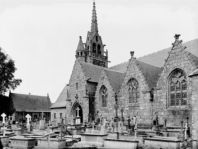 Chapelle et clocher, côté sud