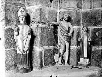 Statue (petite nature) : saint Léonard