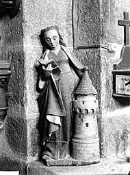 Statue (demi-nature) : sainte Barbe
