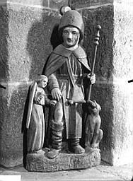 Groupe sculpté (demi-nature) : saint Roch