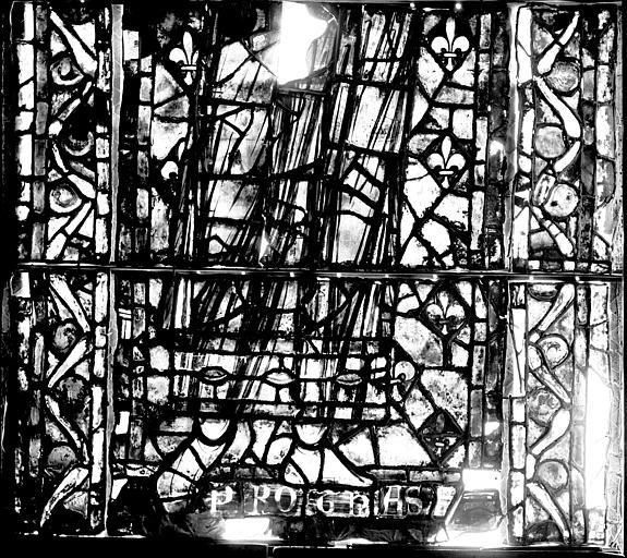 Vitrail, déambulatoire, septième fenêtre haute, deuxième panneau, lancette au milieu