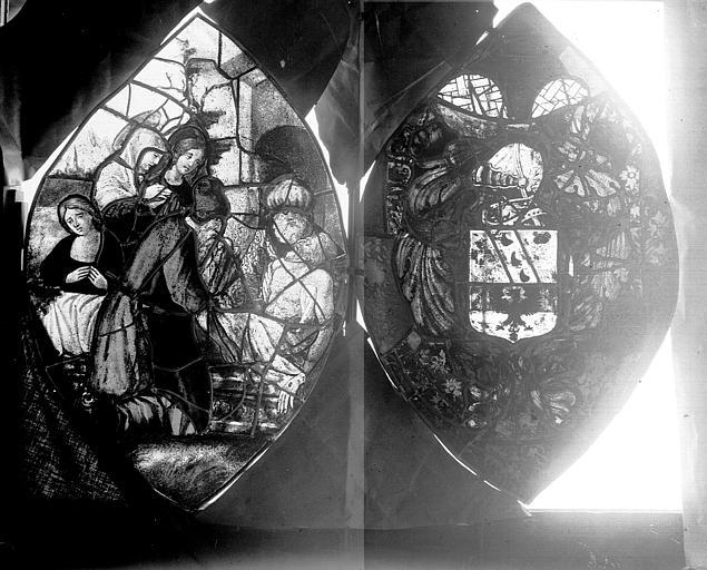 Vitrail, fenêtre A, tympans
