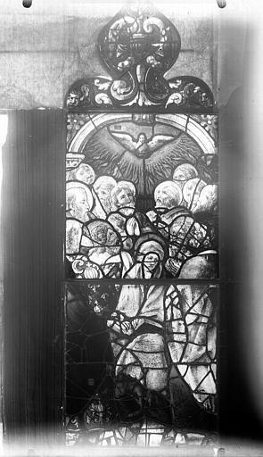 Vitrail, fenêtre A, lancette droite, panneau supérieur