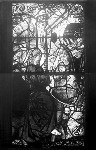 Vitrail, fenêtre C, première lancette à gauche, panneau inférieur