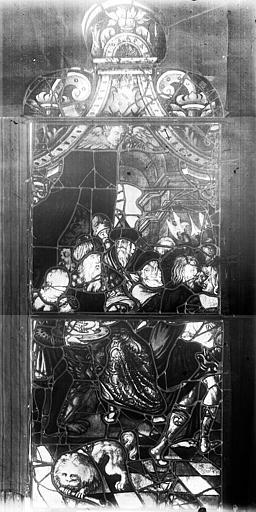 Vitrail, fenêtre C, troisième lancette à gauche, panneau supérieur